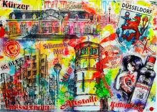 duesseldorf Galerie collage Bild im pop art stil