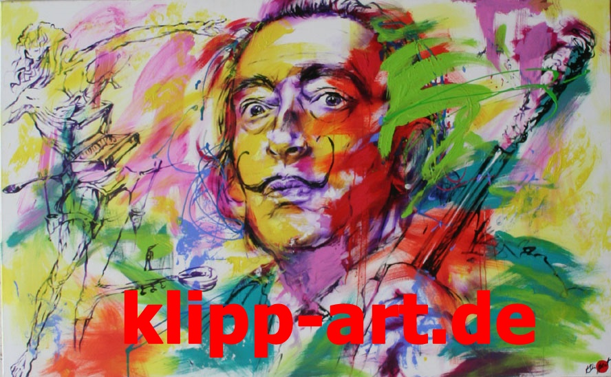 Portrait Dali Pop Art Galerie Klipp-Art Originalgemälde