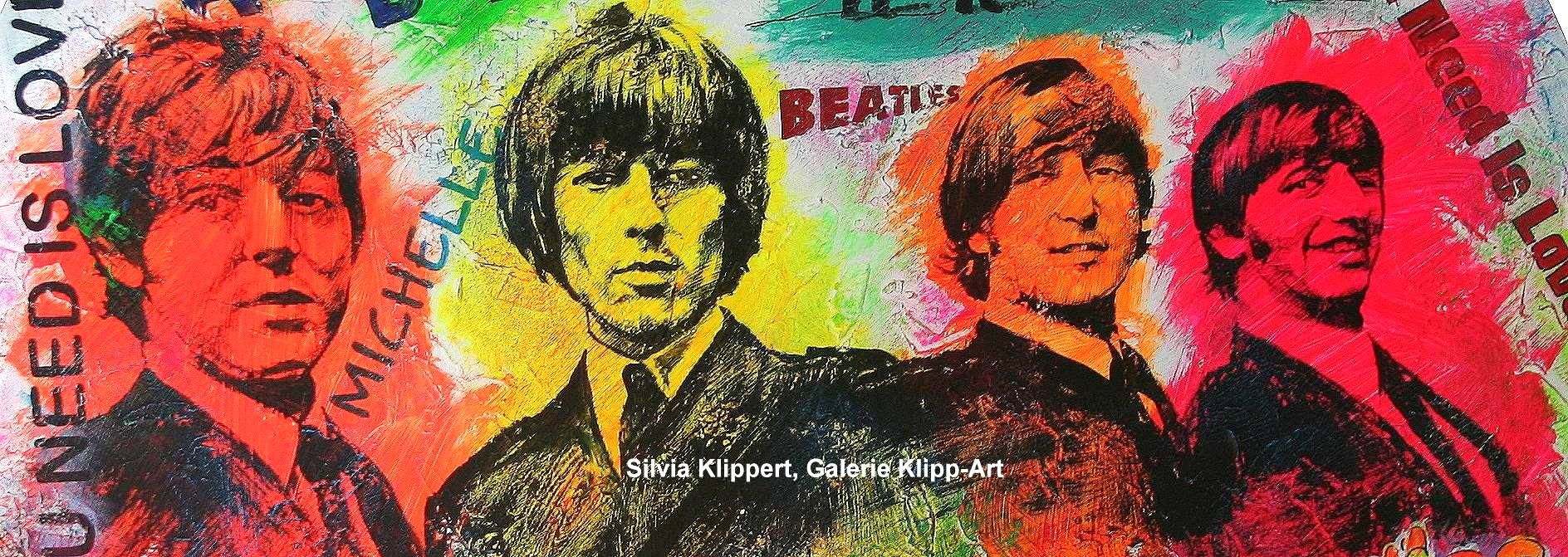 Pop art Stil Beatles